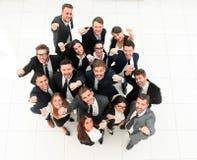 Concept succes talrijk zegevierend commercieel team stock foto's