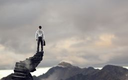 Concept of success and achieving your goal . Mixed media Royalty Free Stock Photo