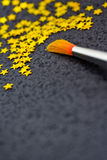 Concept of success: brush painting stars Royalty Free Stock Images