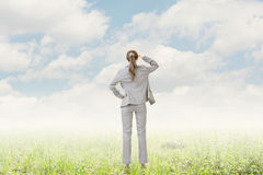 Concept of success with businesswoman Stock Photo