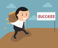 The concept of the success can make you rich and wealthy Royalty Free Stock Photo