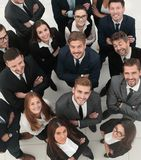 Closeup. professional large business team . Concept of success. closeup. professional large business team . the view from the top royalty free stock photography