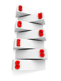 Concept success ladder block steps and letters Royalty Free Stock Photo
