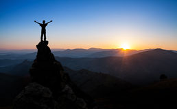 Concept of success, sports, victory Stock Images