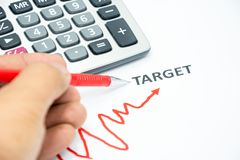 Concept of success start to target. With have an obstacle Stock Images