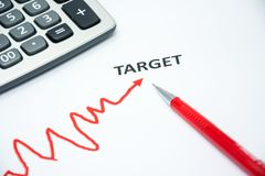 Concept of success start to target Stock Photo