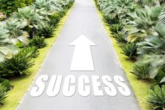The path of success in the future,Arrow pointing forward. Concept success symbol Purpose of life,Long journey,The path of success in the future,Arrow pointing Stock Image