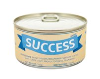 Concept of success. Tin can. Stock Photo