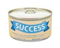 Concept of success. Tin can. Stock Photo