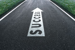 Concept success travel road Royalty Free Stock Photography