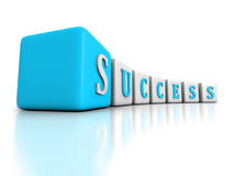 Concept SUCCESS word blocks structure Stock Photography