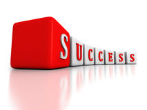 Concept SUCCESS word blocks structure Royalty Free Stock Image