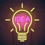 Concept of successful idea inspired by bulb shape Royalty Free Stock Photography