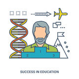 The concept of successful learning and motivation to achieve goals Royalty Free Stock Images