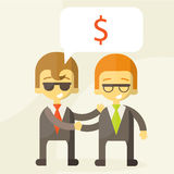 Concept of successful partnership, money Royalty Free Stock Photography