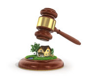 Concept of suing for property. Royalty Free Stock Images