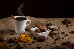 Concept suivant un régime avec du café Image stock