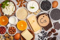 Concept suivant un régime de nutrition saine de nourriture E photos libres de droits