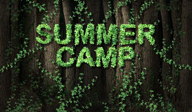 Concept of summer camp Royalty Free Stock Photo