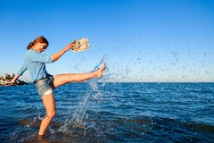 Concept of summer holidays at sea and live style royalty free stock images