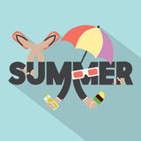 Concept Of Summer Typography Design Royalty Free Stock Photography