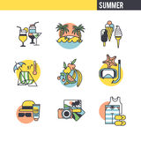 The concept of summer vacation Royalty Free Stock Photos