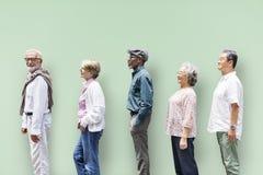 Concept supérieur de mode de vie d'amies de personnes de diversité Images stock