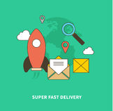 Concept of Super Fast Delivery Stock Photo