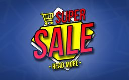 Concept of Super Sale banner stock photos