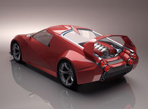 Concept Supercar Stock Foto