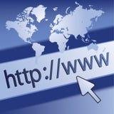 Concept surfant de site Web Image stock