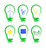 Concept, symbolizing the alternative energy Royalty Free Stock Image