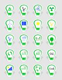 Concept, symbolizing the different types of energy Stock Photo