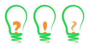 Concept, symbolizing the light bulb Stock Photography
