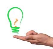 Concept, symbolizing a new idea Stock Images