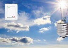 Concept symbolizing the solar energy Royalty Free Stock Photos