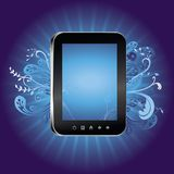 concept with tablet pc with empty screen Royalty Free Stock Photos