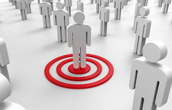 Concept - Target in a crowd Stock Image