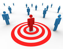 Concept of targeting people stock illustration