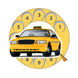 Concept taxi by phone Royalty Free Stock Photography