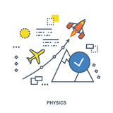 The concept of teaching physics and its laws Royalty Free Stock Image
