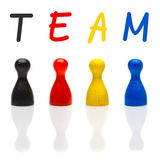 Concept team, teamwork, organization primary color black leader Royalty Free Stock Photography
