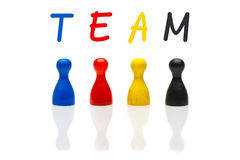 Concept team, teamwork, organization primary color black Stock Photography