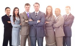 Businessman and professional multinational business team Royalty Free Stock Photo