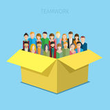 Concept of teamwork. Stock Photo