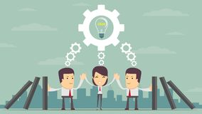 Concept of teamwork building working system of cogwheels Stock Photography