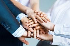 Concept of teamwork Stock Image