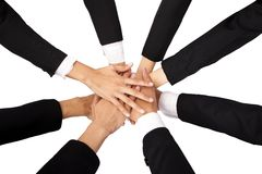 The concept of teamwork and Cooperation Royalty Free Stock Photography