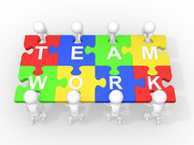Concept of teamwork, leadership, cooperation royalty free illustration