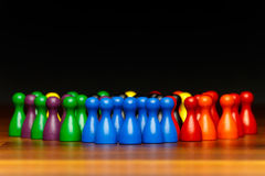 Concept teamwork, organization, group multi color Stock Photography